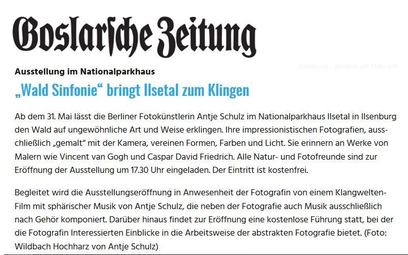 Goslarsche Zeitung 11.05.2018